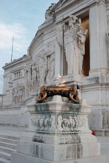 Altare Della Patria Roma Rome Ancient Civilization Architecture Day Fire History Italy Monument No People Outdoors Sculpture Statue Tourism Travel