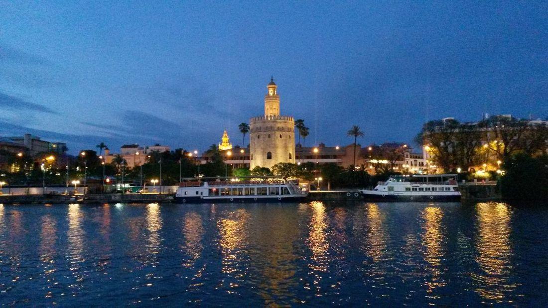 Cities At Night Sevilla Spain, Andalucia