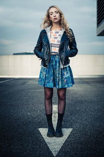 Katharina Girl Blonde From The Rooftop Street Fashion Unique Ruhrgebiet Ruhrpott Docmartens Asphalt Beauty