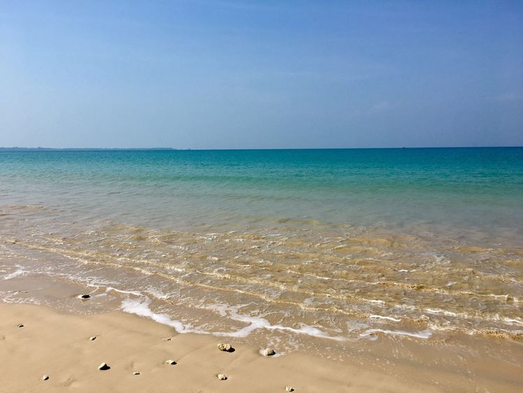 Beach Sea Sand Horizon Over Water Shore Water Scenics Beauty In Nature Nature Tranquility Tranquil Scene Day Outdoors Sky No People Blue Clear Sky Thailand Thailand_allshots