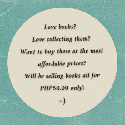 Watch out for next posts for books for sale. Everything must go! Cebu buyers only. PM me for more info... Facebook: www.facebook.com/meanieJEMini Twitter: jemzjane Viber/WeChat/Line: 09228633340 Booksforsale BookLovers Bookworms Forsale Sale Cebu Affordable Reshare Tflers Igers Igcebu Igerscebu