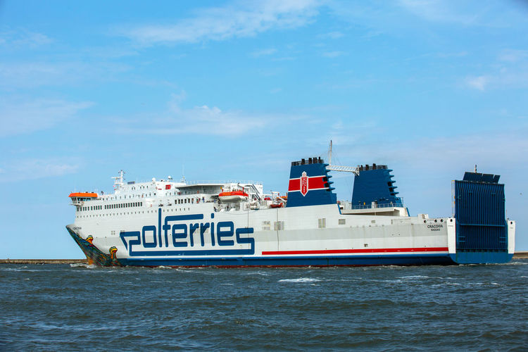 Baltic Baltic Sea Architecture Blue Building Exterior Built Structure Cloud - Sky Cruise Ship Day Mode Of Transportation Motion Nature Nautical Vessel No People Outdoors Passenger Craft Sea Ship Sky Transportation Travel Water Waterfront