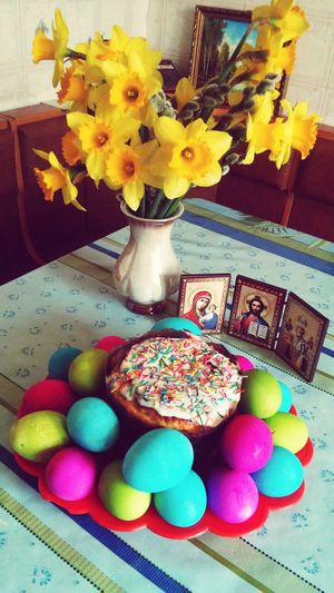 Spring Flowers Food Delishes Easter Eggs FeastDay 😍😌😊