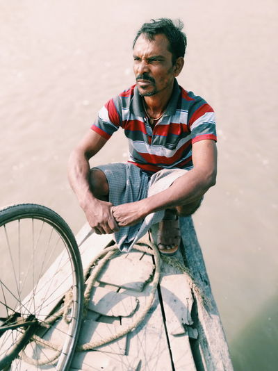 Boat Man Majhi Portrait Mi A2 Differing Abilities Portrait Sitting Bicycle City Exercising