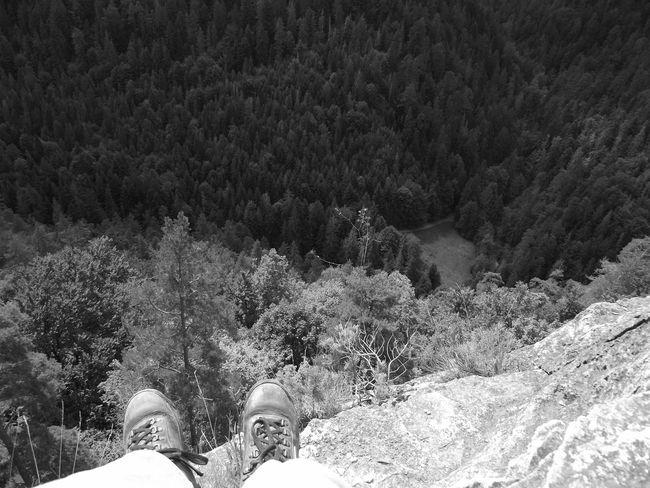 Black And White Human Body Part Human Leg Monochrome Mountain Nature One Person Shoe Slovakia Slovenský Raj Tree