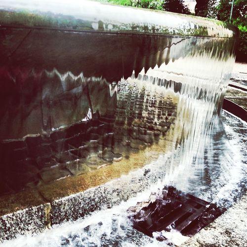 Munich München Gasteig Water Fountain