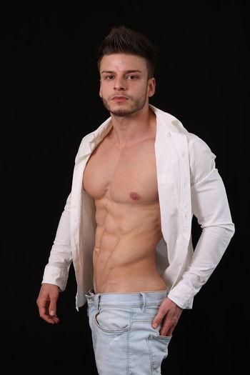 Male fitness model Beautiful Jeans Man Beauty In Nature Fit Fitness Fitnessmodel Male Model Modeling Muscle Sexyboy Shirt Topless, Underwear Model