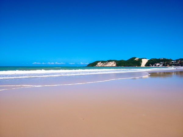 Ponta Negra Beach Beach Beauty In Nature Blue Clear Sky Copy Space Day Horizon Over Water Natal - RN Nature No People Outdoors Ponta Negra Beach Sand Scenics Sea Sky Tranquil Scene Tranquility Water Wave First Eyeem Photo EyeEmNewHere