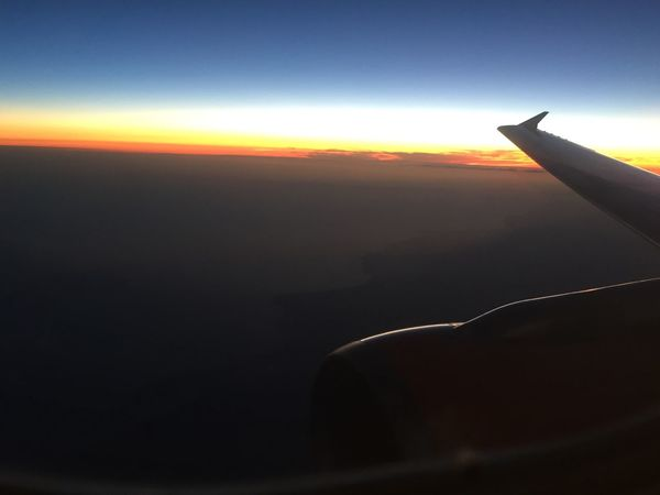 Sunset Airplane Atlantic Ocean Sundown Colours Of Nature Travels Above The Clouds France Trip Aircraft Wing On The Move Blue Nature Flying Mid-air Beauty In Nature No Filter, No Edit, Just Photography Sky Tranquility Great View Lacanau-océan Sun