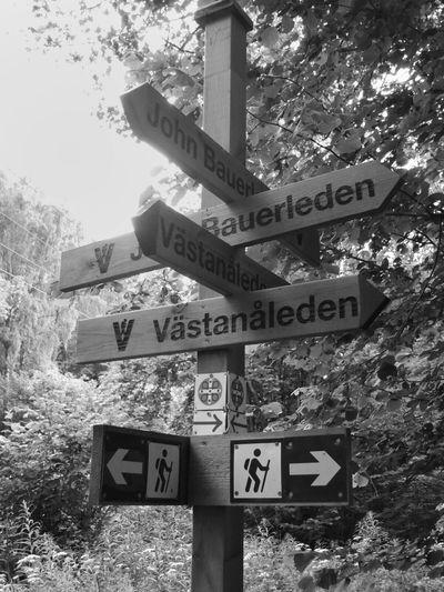 Blackandwhite Signs Trekking Nature Reserve
