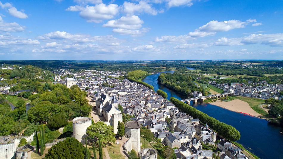 Aerial photo of Chinon city castle in Indre et Loire, France Castle Chateaux De La Loire Chinon Cityscape EyeEm Best Shots EyeEm Selects France Indre Et Loire Royal Fortress Aerial Photography Aerial View Architecture Building Exterior Built Structure Day Fortification Fortified Wall High Angle View Landscape Medieval Outdoors Scenics Tourism Towers Travel Destinations