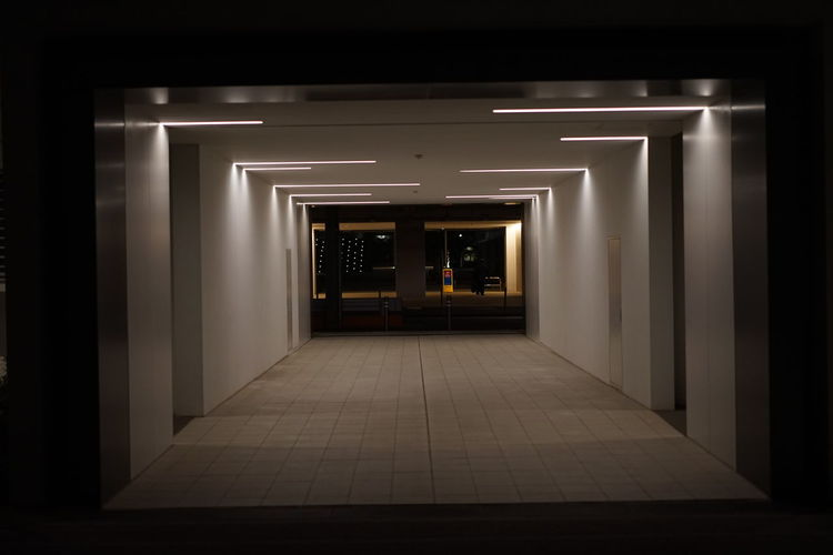 No People Night Minimalist Architecture