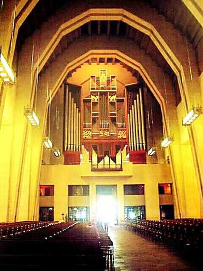 Church Indoor Pipe Organ Tall - High Biggest Pipe Organ In The World Architecture City Life