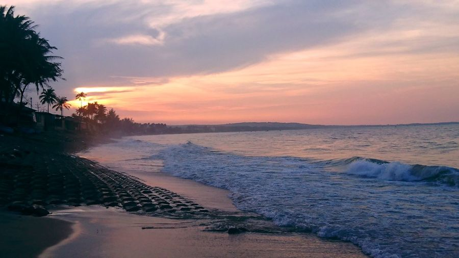 #muine #vietnam Sunrise Dawn Of A New Day Dawn Sand Dune Tree Sand Awe Low Tide Tide Romantic Sky Coastal Feature Dramatic Sky Calm Coast Coastline Seascape Atmospheric Mood