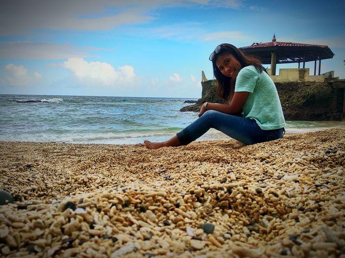 beautiful beach..📷 Beachphotography Beach Sky I Love You Ambon Maluku  Natamalatu Beach Sea Beach Young Women Relaxation Water