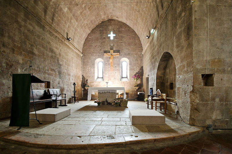 Abbey Ancient Civilization Arch Architectural Feature Architecture Built Structure Ceiling Church Column Entrance Historic History Indoors  Mystical Atmosphere Narrow Old Place Of Worship Religion Religious Architecture Ruined Spirituality Valbonne Valbonne Abbey