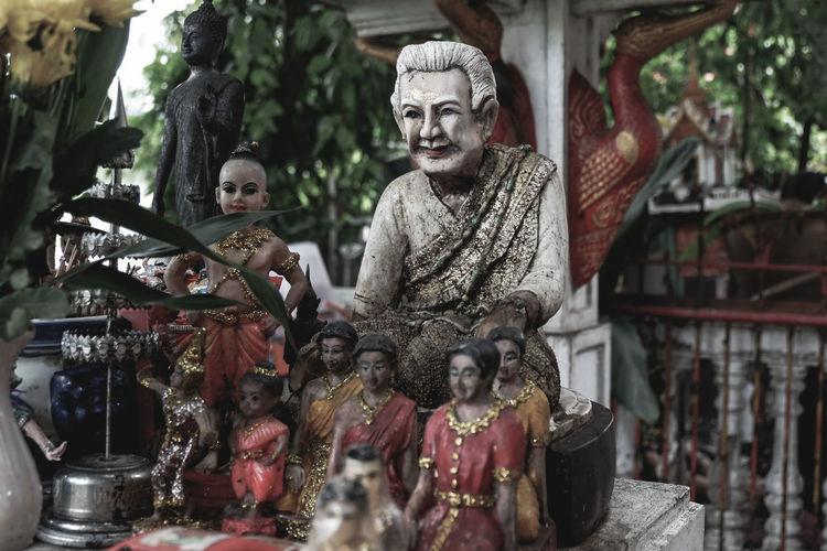 Statues in shop
