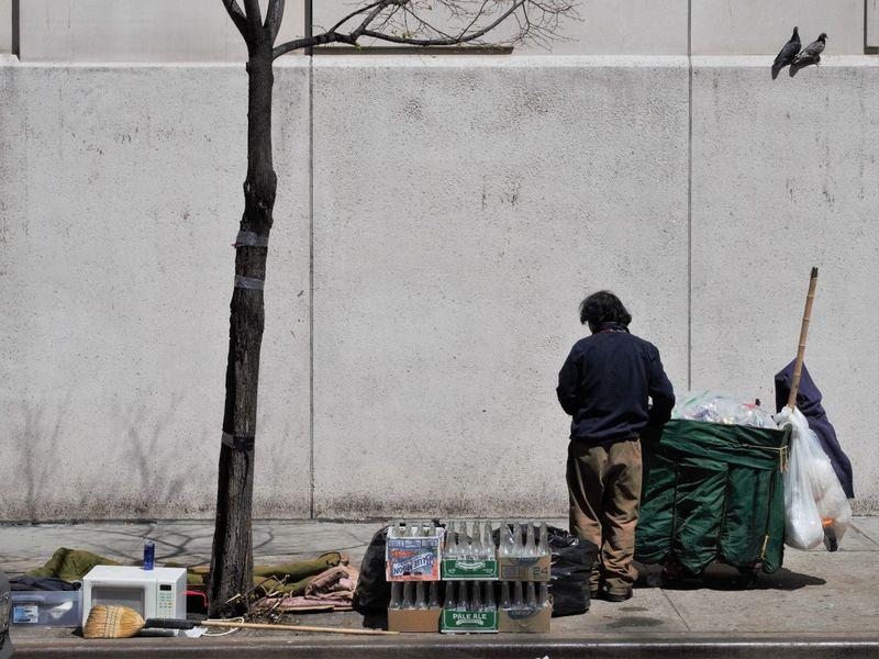 Chelsea City Homeless Manhattan New York New York City Streetphotography Trash Cans Unfortunate