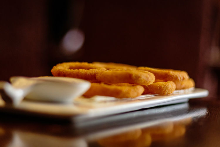 Hebei Served Beidaihe China Close-up Deep Food Food And Drink Freshness Fried Indoors  No People Onion Plate Ready-to-eat Rings Selective Focus Table