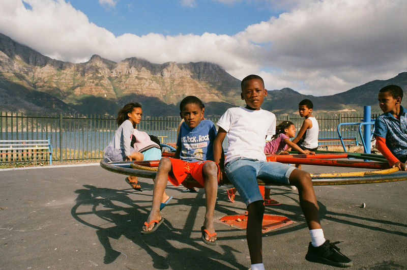 Looking In - these children wanted their photograph taken in a way which showed the essence of their difficult lives. 35mm Film Photojournalism South Africa The Portraitist - 2018 EyeEm Awards Portait Photography Portrait Portraiture Streetphotography First Eyeem Photo