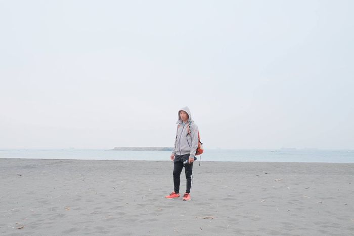 Beach Sea Full Length Man At The Beach XF23mmf1.4 Fujifilm Xpro2 Beauty In Nature Taiwan Sand Outdoors Vacations Front View Day Sky Adult Nature Horizon Over Water