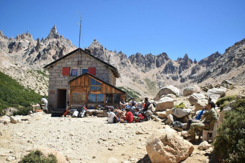 Travel Destinations Tourism Travel Built Structure Mountain Landscape Day People Sky Outdoors Refugee Refugees Welcome Refugeecamp Argentina Cerro Catedral Refugio Frey