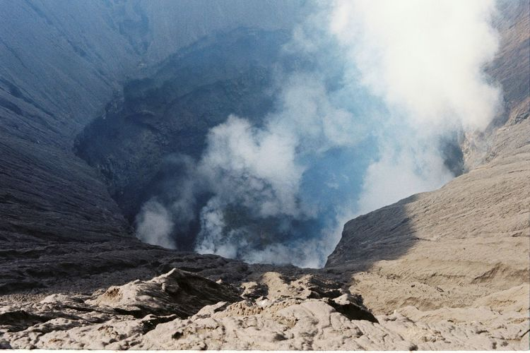 Volcano ASIA Indonesia_photography INDONESIA Travel Nature Mountains Mountainscape MtBromo Outdoors Eruption Travel Photography Travelling SEAsia Film Photography 35mm Film 35mm Lumosity Nature Sky No People Scenics Day Beauty In Nature Mountain