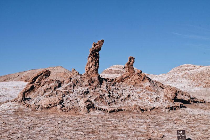 EyeEm Selects Ricardobarbosa Chile 3marias Tresmarias Trip Atacama Atacama Desert Desert Aroundtheworld Rock - Object Arid Climate Physical Geography Nature Landscape Clear Sky Blue