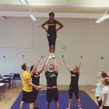 Finally got partner stunt to post! Cheerleading Partnerstunt Sabrecats Endofanera