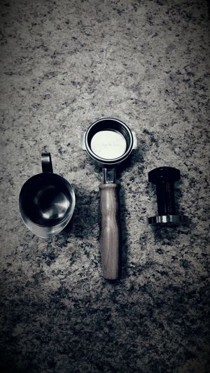Ideal tools. Cup Portafilter Tamper Coffee Ahh