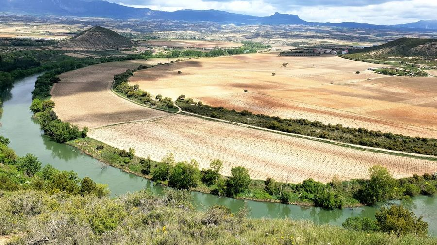 Ebro River Water Salt - Mineral Mountain Rural Scene Terraced Field Agriculture Rice Paddy Patchwork Landscape Field High Angle View Plowed Field Agricultural Field Farmland Cultivated Land Plantation Irrigation Equipment