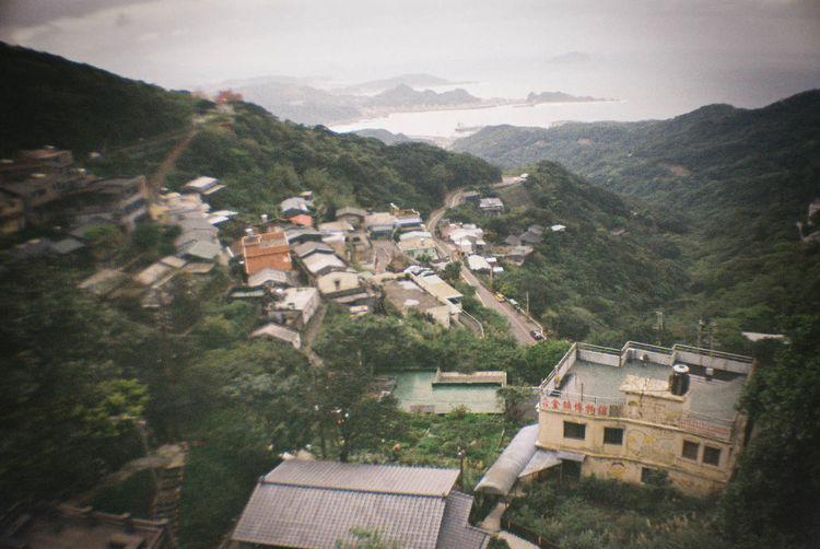 This Asian villege looks unreal, even though I am asian. Built Structure Cold Film House La Sardina The Magic Mission March Mountain Nature Rooftop Scenics Taiwan Tranquil Scene Traveling Tree Village