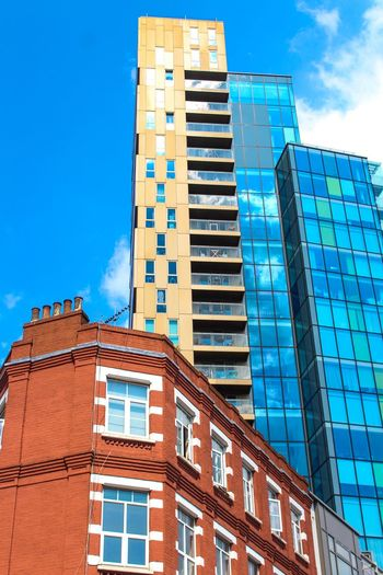 London Architecture Built Structure Architecture Building Exterior Sky Building Low Angle View City Blue Day No People Tall - High Sunlight Modern Office Building Exterior Window Residential District Tower Outdoors Skyscraper