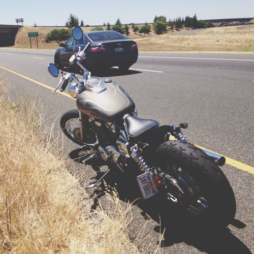 That one time my bike broke down in the fast lane before jumping on I-5... First Eyeem Photo