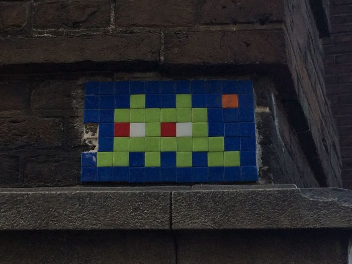 Street Art Graffiti Space Invaders