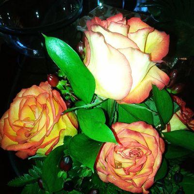 Con estas flores me recibieron en mi casa :-)