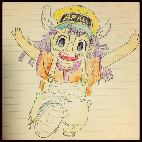 アラレちゃん♡ お絵かき