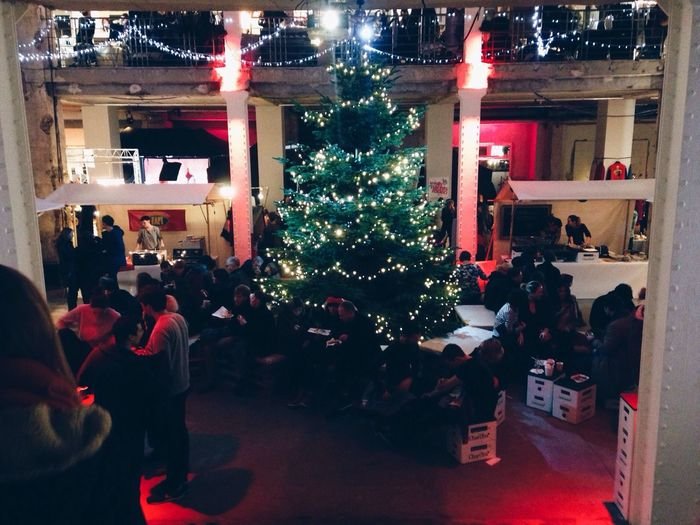 Deck The Halls. Christmas Trees Light