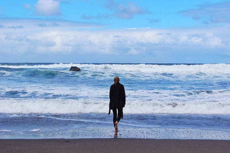 Beach Sea Rear