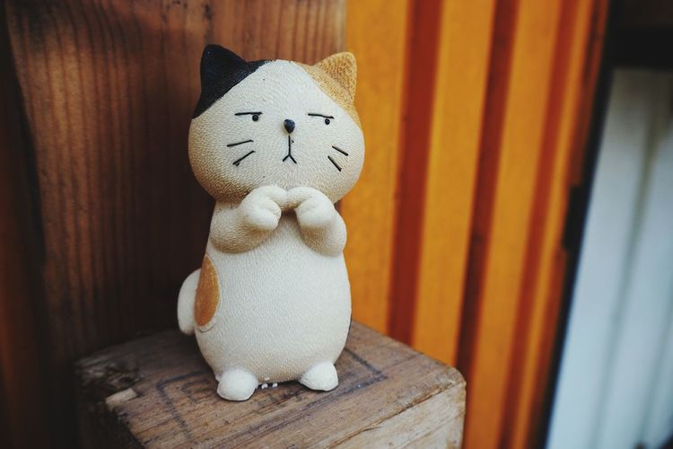 Cat Doll Toy Model Kitten Wood - Material Cute Close-up