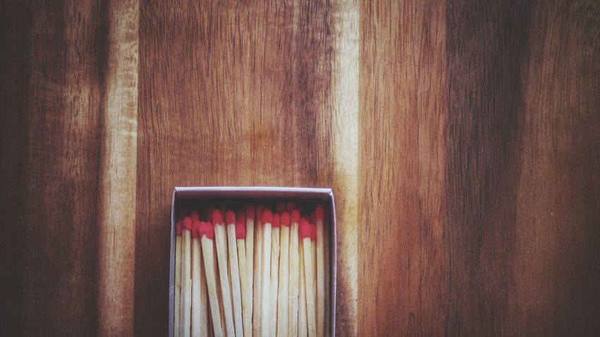 On the table Matches On Box Matches Table Wooden EyeEm Selects Wood - Material No People Day Built Structure Backgrounds Indoors