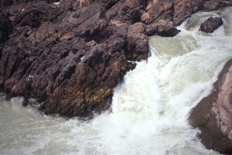 View Don Det Landscape Laos Power In Nature River Rock - Object Stone Sunny Day Waterfront Wildlife