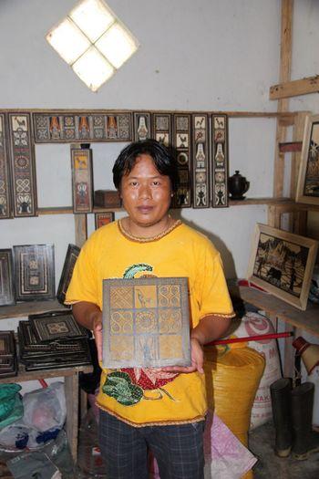 Wooden Handmade Karanganyar, Indonesia Handcraft Looking At Camera Front View Portrait Standing Smiling One Person Indoors  Looking At Camera Front View Portrait Standing Smiling One Person Indoors