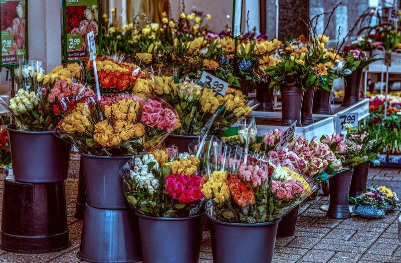 Bloemen Blue Blumenladen Blumenpracht🌺🍃 Bouquet Day Flower Flower Arrangement Flower Market Freshness Hdrphotography Multi Colored No People Outdoors Roze Variation