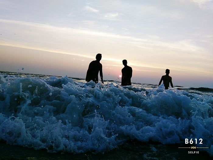 At Cherai Beach... Enjoying with the waves.. A shot before sunset First Eyeem Photo