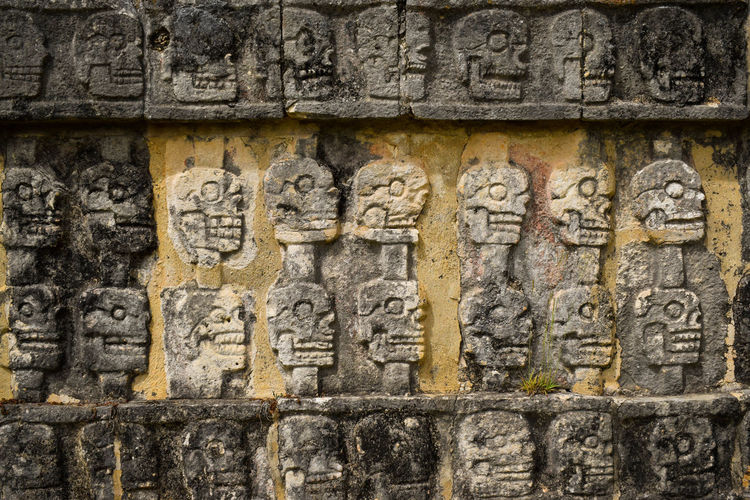 Graffiti on old stone wall
