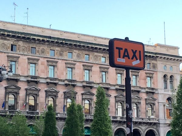 Milan Taxi stand !! April Showcase Our Best Pics Still Life Architecture Taxi Sign Milano Fineart Getty X EyeEm No People Italy❤️ Showcase April