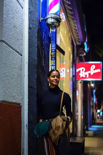 """"""" Ray ban """" One Person Communication Night City One Man Only Outdoors Travel Destinations Building Exterior Text Adults Only Illuminated Architecture People Smiling Neon Only Men Adult Young Adult Rayban"""