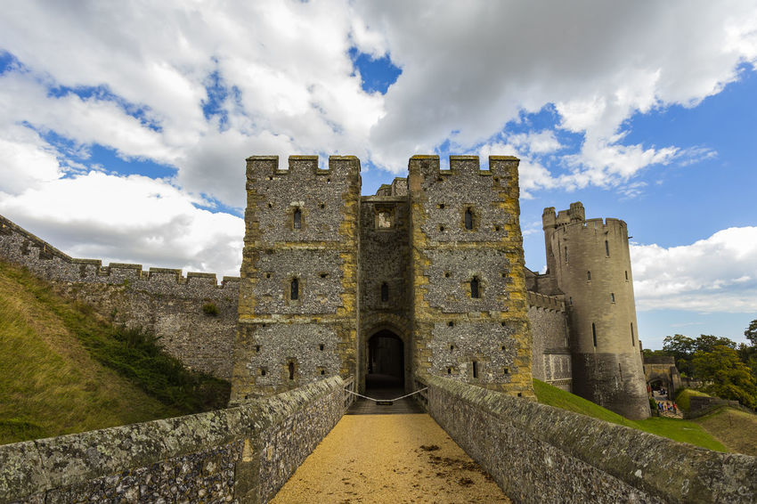 Arundel castle, Arundel, West Sussex, England Ancient Ancient Civilization Architecture Building Exterior Built Structure Castle Cloud - Sky Day Fort History Nature Old Ruin One Person Outdoors People Real People Sky The Past Travel Destinations