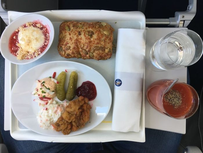 Lunch! [somewhere above clouds] ✈️ #LH1676